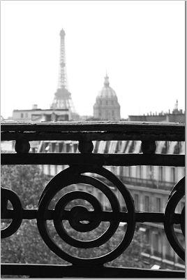 Paris Balcony_b&w photograph by Stuart Meyer