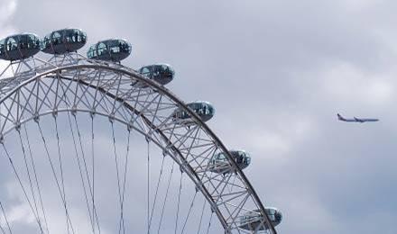 London Eye & Plane